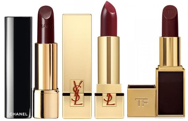 burgundy lipsticks
